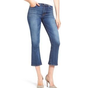 Hudson Brix High Rise Crop Jeans